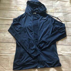 Gymshark zip up hoodie blue size M
